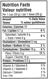 Dehydrated Apples Nutritional